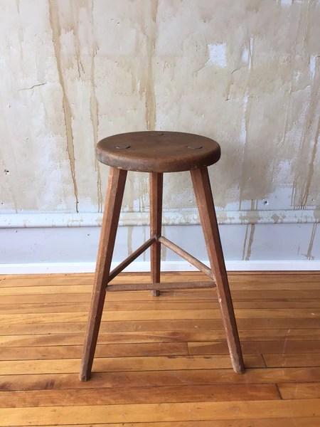 bar stool chair legs dining covers gray three leg vintage italian (sold)