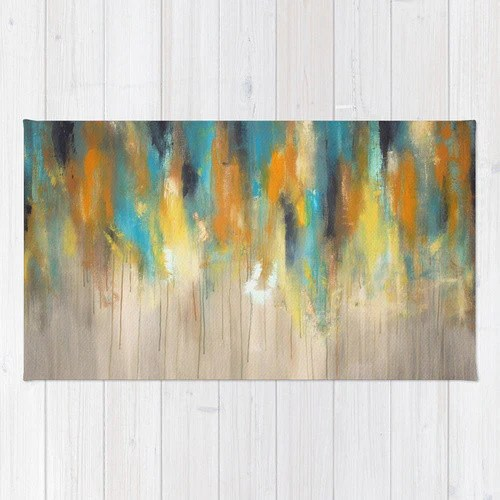 Navy and Gold Paint Drips  Silver Trees  Abstract Tree Painting  Ar  The Modern Home Co by