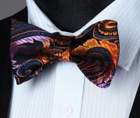 Summer Fires Bow Tie and Pocket Square - SOPHGENT