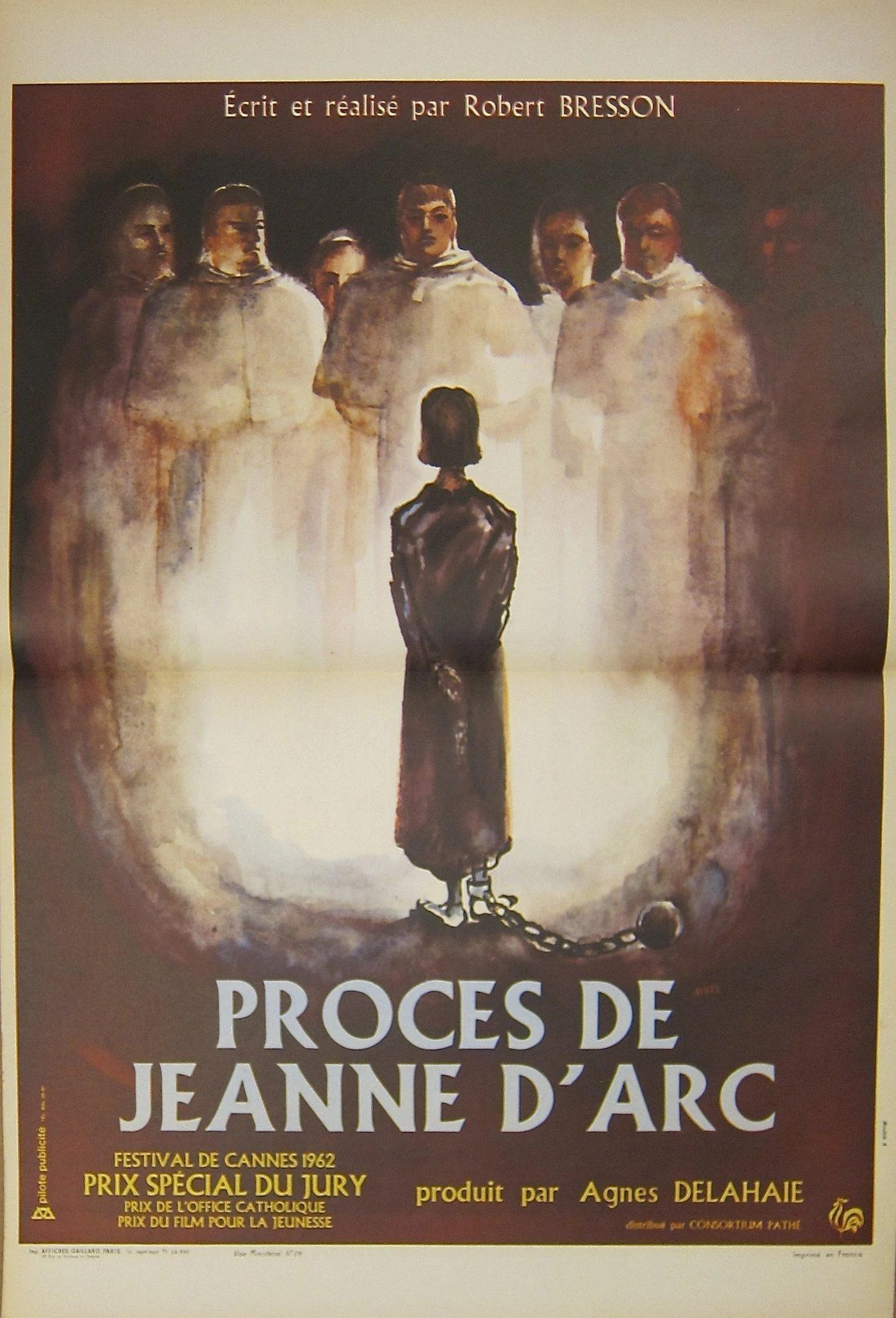 Le Procès De Jeanne D Arc : procès, jeanne, Trial, (Proces, Jeanne, D'Arc), Movie, Poster, French, (16x23), Original, Vintage