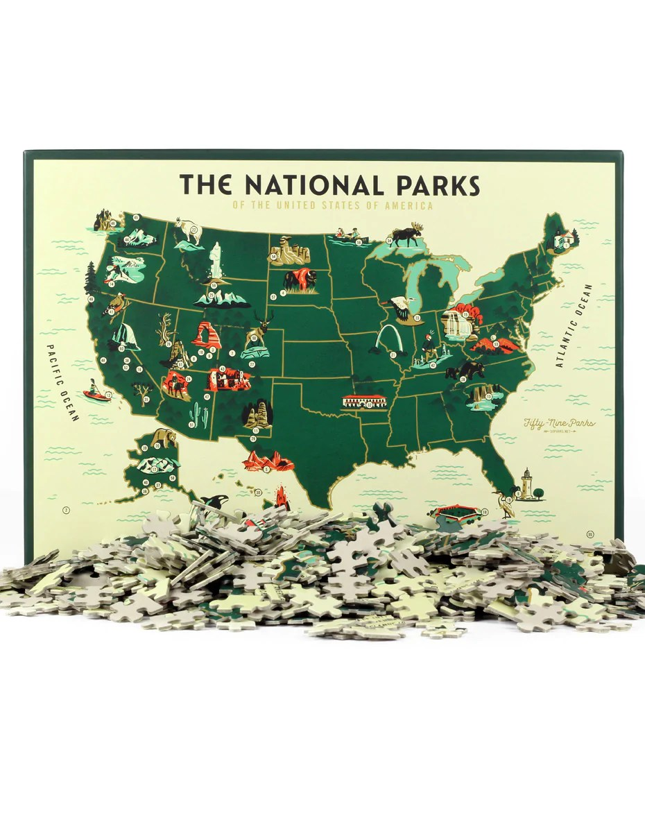 Anyone can get an annual pass, and certain individuals q. Us National Park Map Puzzle Fifty Nine Parks