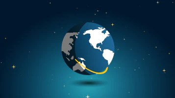 2D Earth Rotating Animation Motionisland