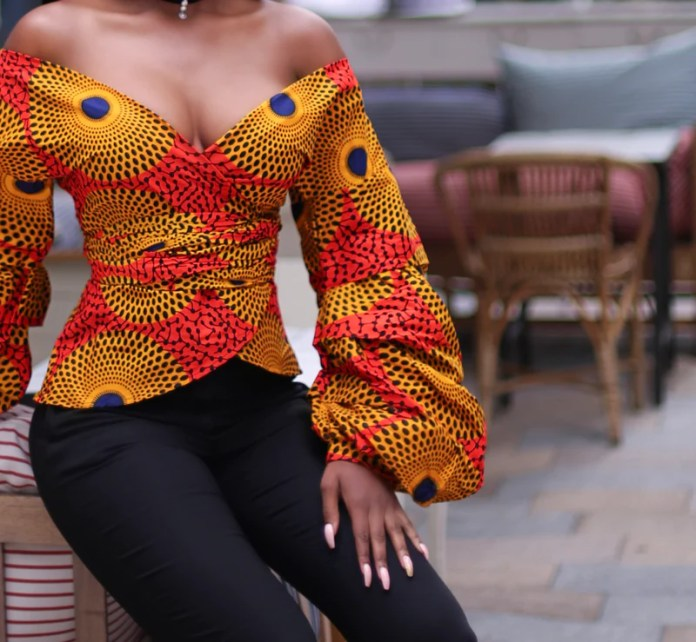 Image result for african girl in coloured top and trousers for graduation