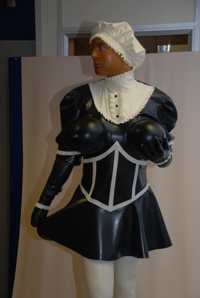 Demanding Maids uniform with inflatable boobs  Sealwear