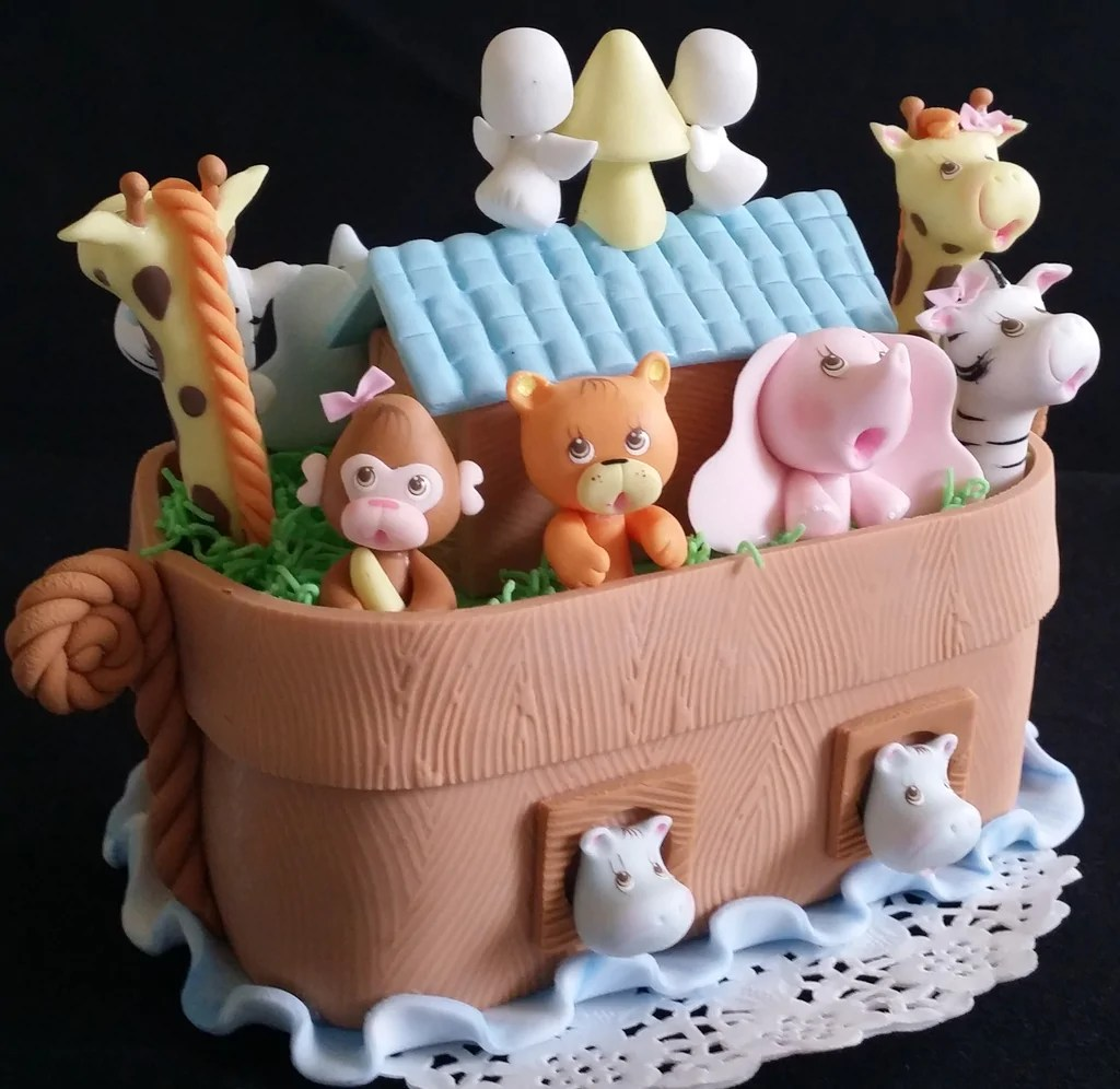 Noah S Ark Cake Topper Noahs Ark Birthday Noah S Ark Baby Shower Decorations