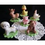 Farm Animals For Cake Decorations Farm Baby Shower Animals Red Farm Birthday Theme 6pcs