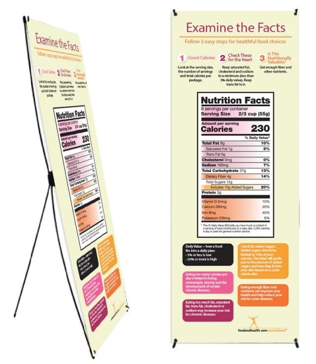 Custom New Food Label Vinyl Banner and Banner Stand 26