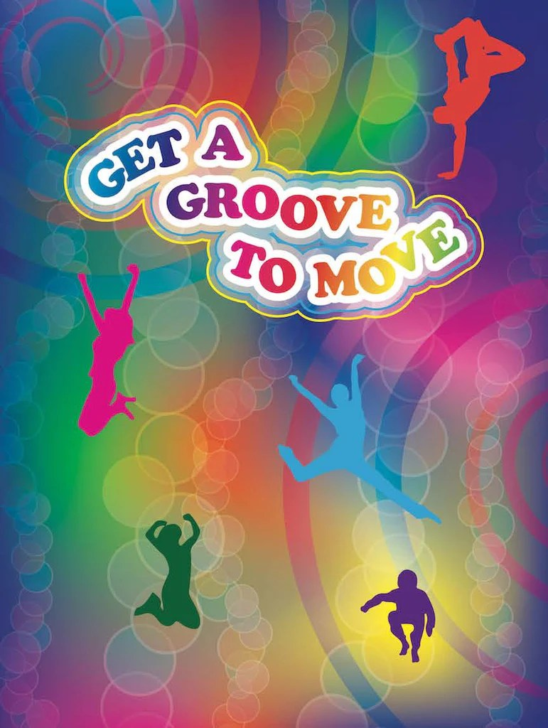 get a groove to move exercise poster 18 x 24 laminated