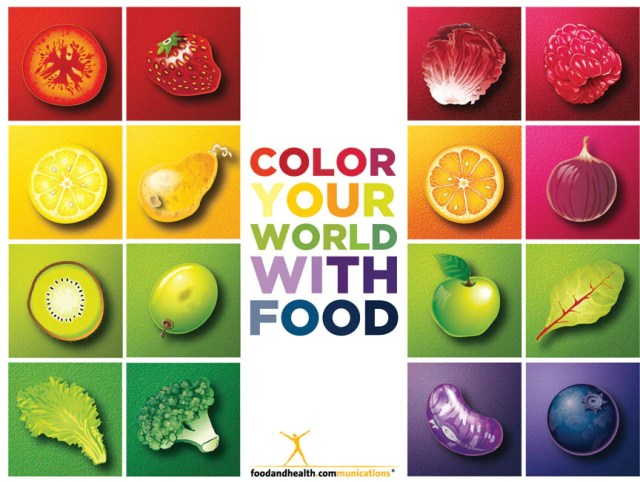 Custom Color Your World With Food Banner 48