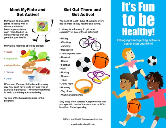 Kids MyPlate And Physical Activity Brochure Packet Of 25