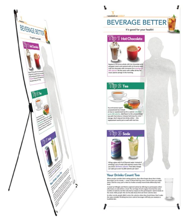 Beverage Banner and Banner Stand 24