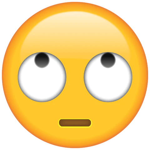 eye roll emoji