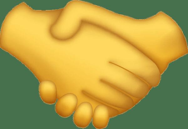 Download Handshake Iphone Emoji Icon in JPG and AI  Emoji