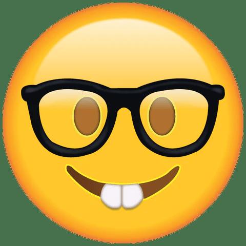 nerd emoji with glasses