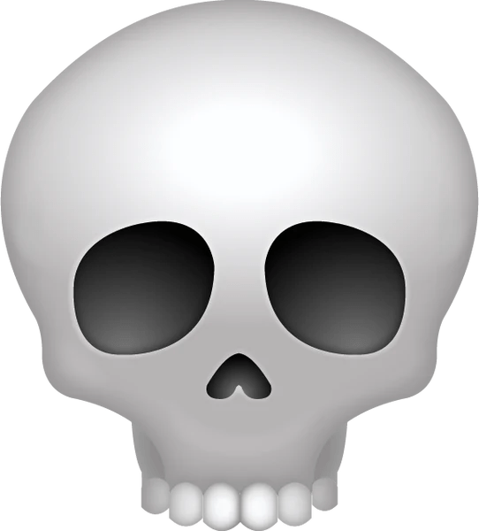 Download Skull Iphone Emoji Icon In JPG And AI Emoji Island