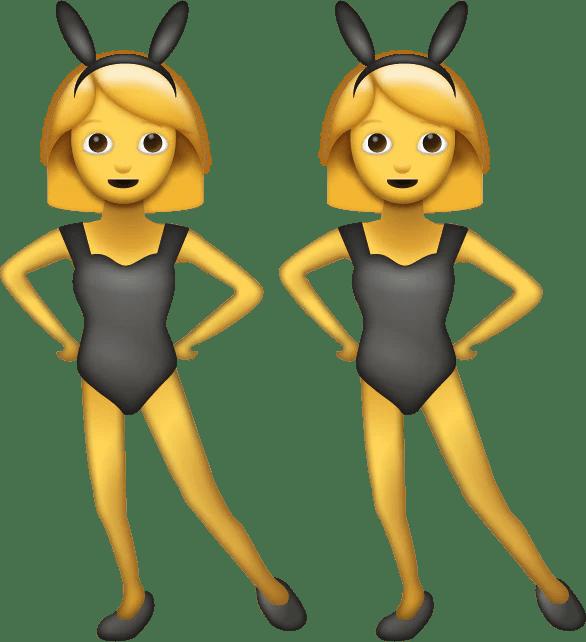 women bunny emoji free