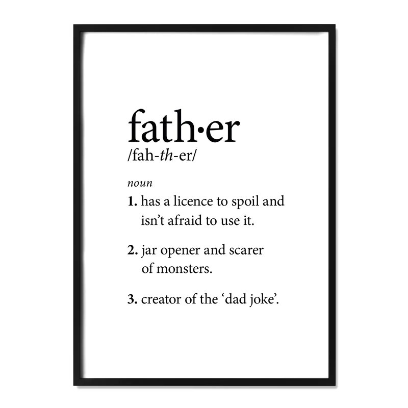 Father Definition Print Alma Custom Designs