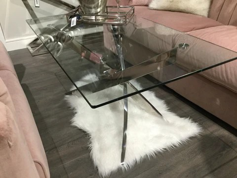 kalmar glass rectangular coffee table