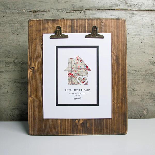 Dropped Pin Map Art Gift For Girlfriend Or Boyfriend