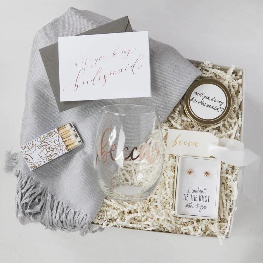 Custom Bridesmaid Gift Boxes Foxblossom Co