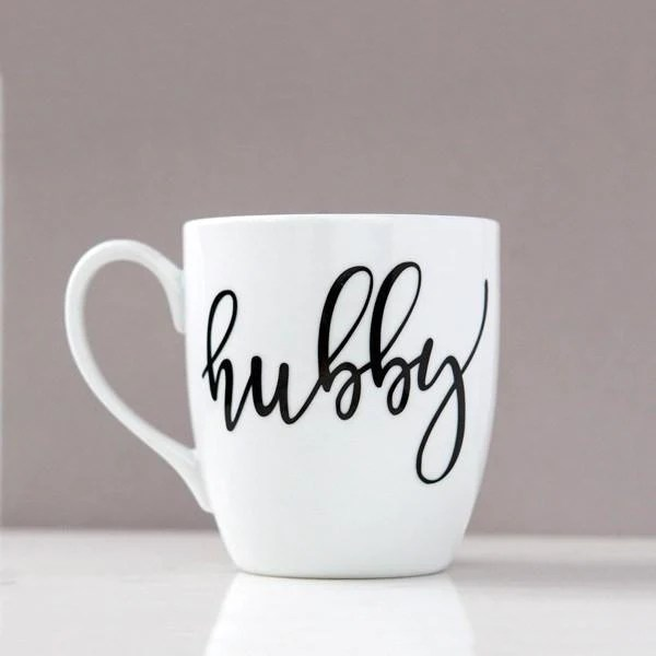 hubby and wifey mug