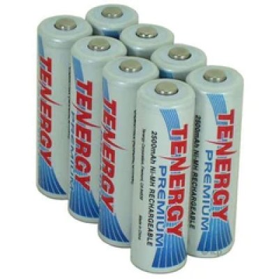 The rechargeable batteries