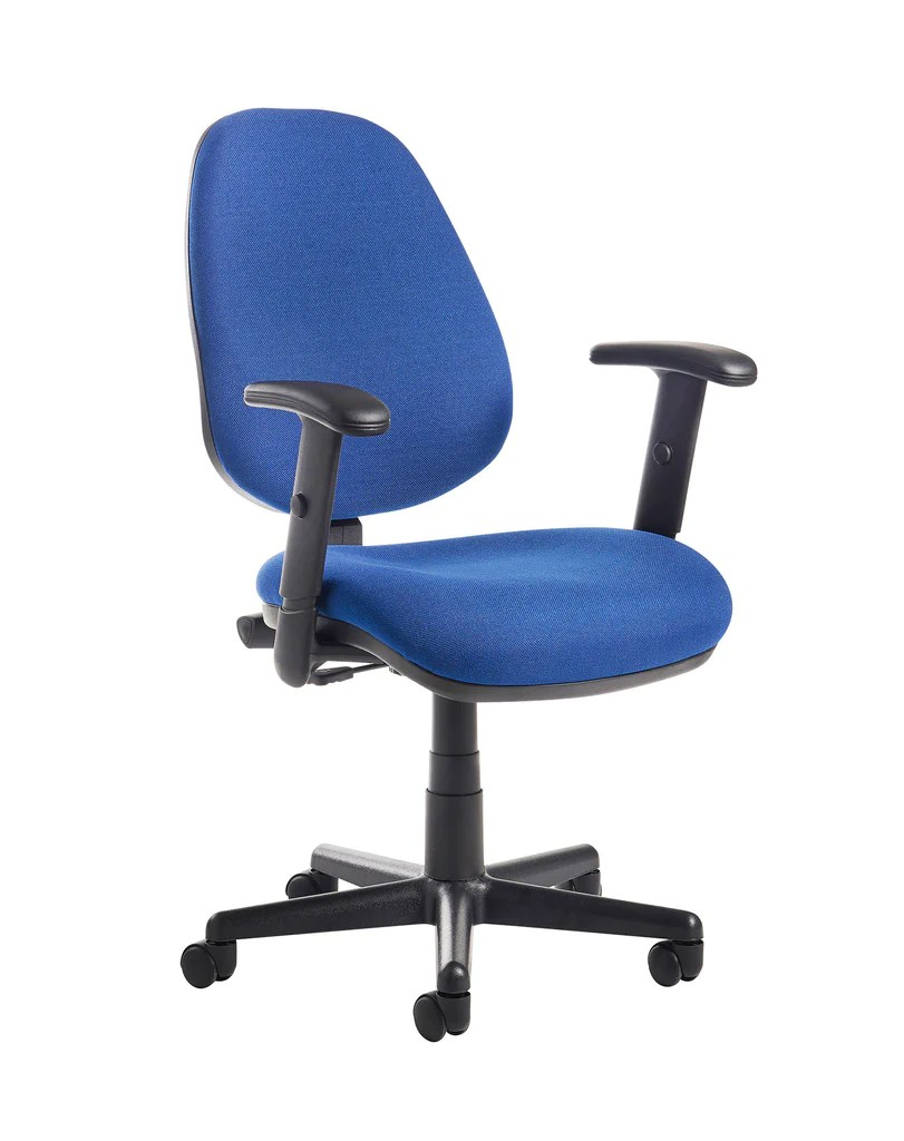 Task Chairs With Arms Bilbao Task And Operator Chair Adjustable Arms Blue Or Charcoal