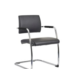 Black Leather Reception Chairs Kids Folding Office 2 Go Sale Bruges Cantilever Chair Box Of