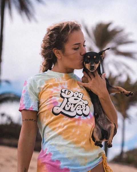 Can Dogs Have Sherbert : sherbert, Short, Sleeve, Rainbow, Sherbert, Lover, Front, Print