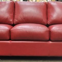 Albany Leather Sofa Royal Blue Omnia Showroom Images