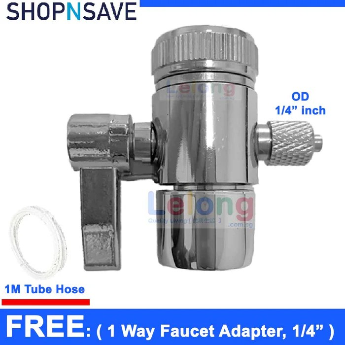 ro faucet adapter 1 way diverter kitchen faucet adapter compatible with all standard size fuacet