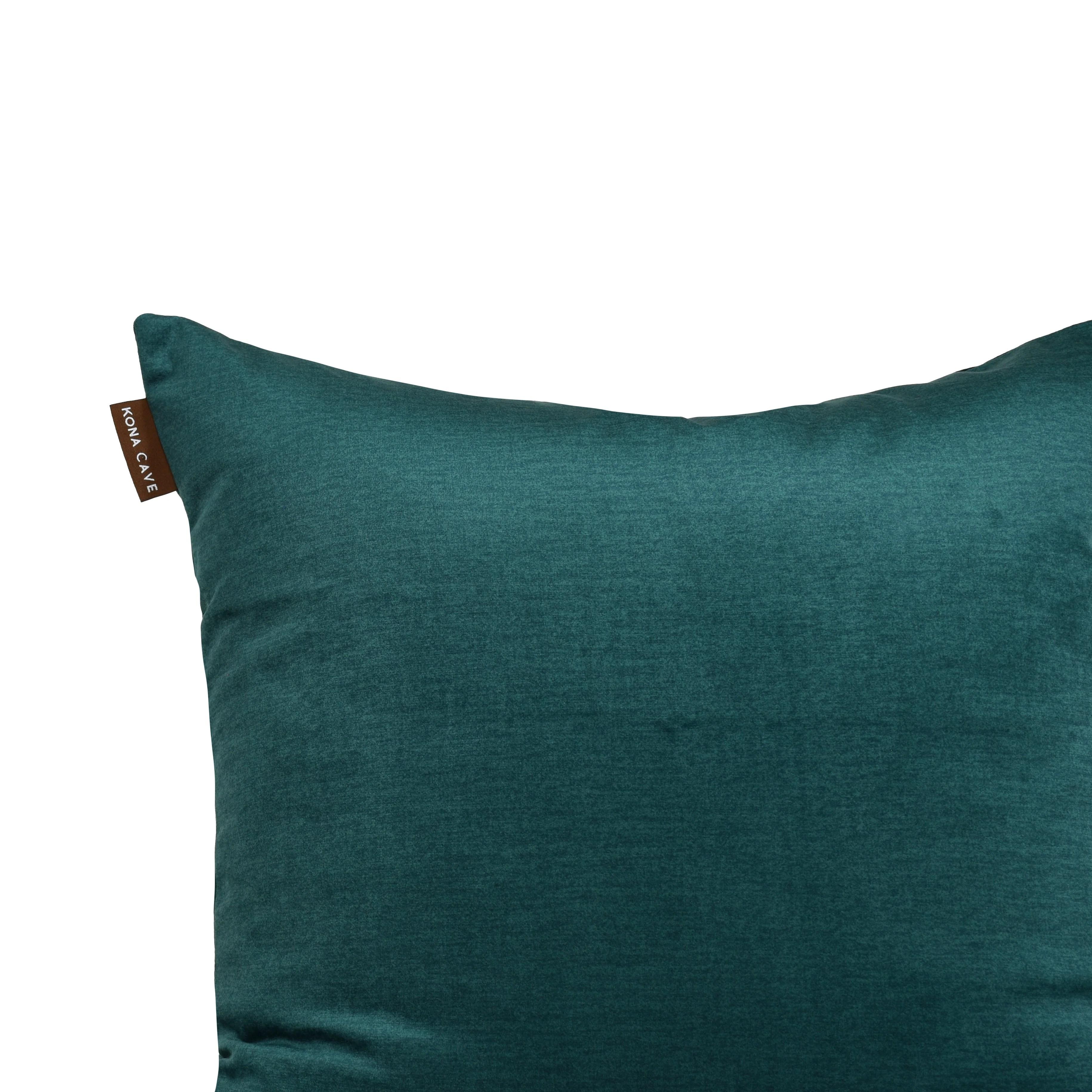 decorative pillow cover emerald green velvet