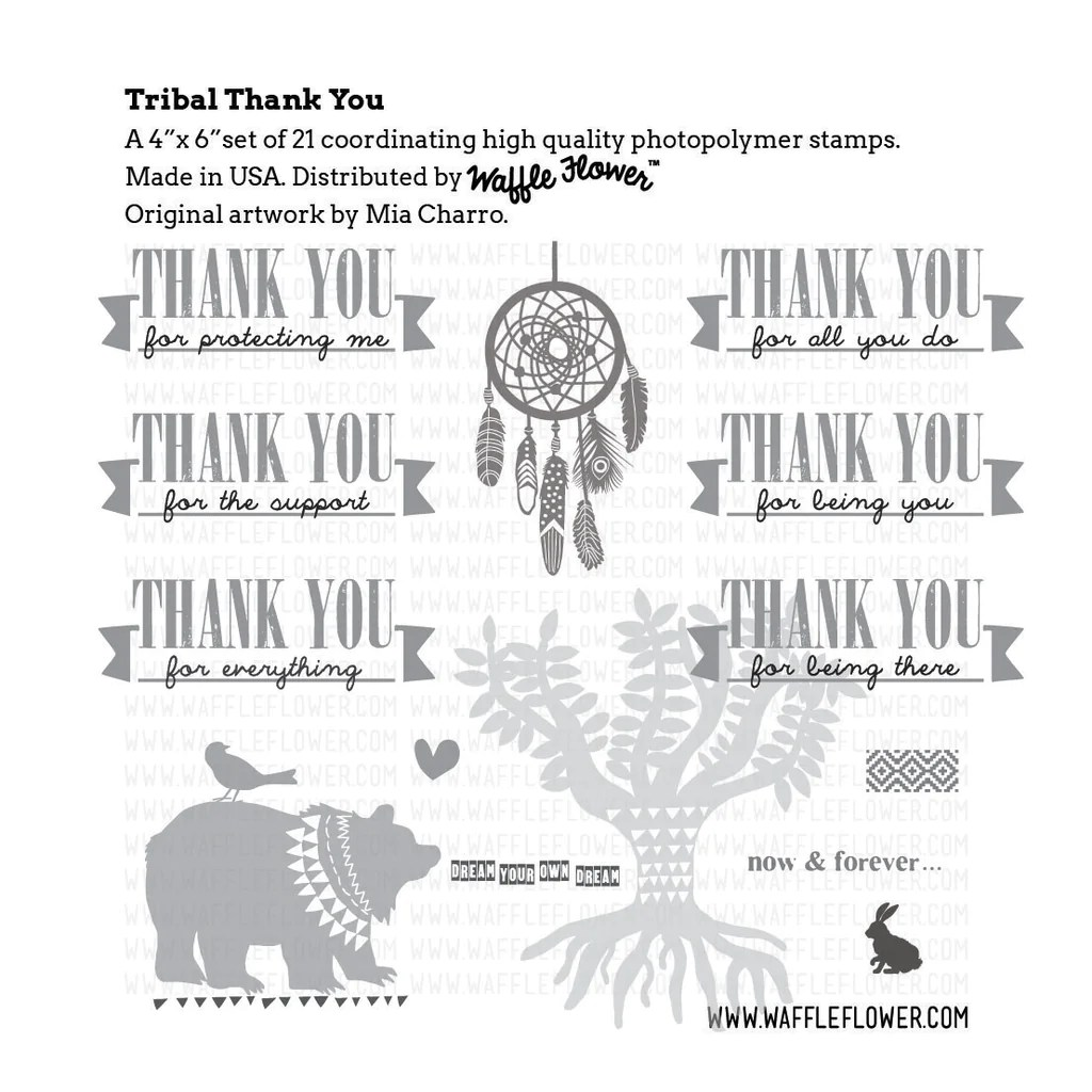 tribal thank you stamp