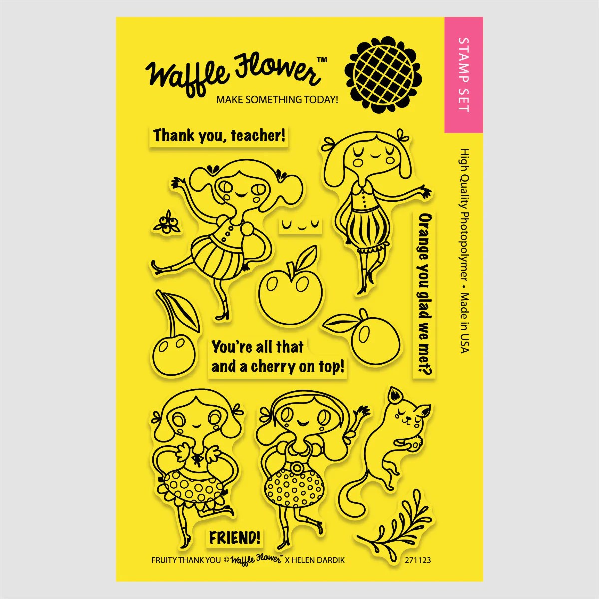 fruity thank you stamp