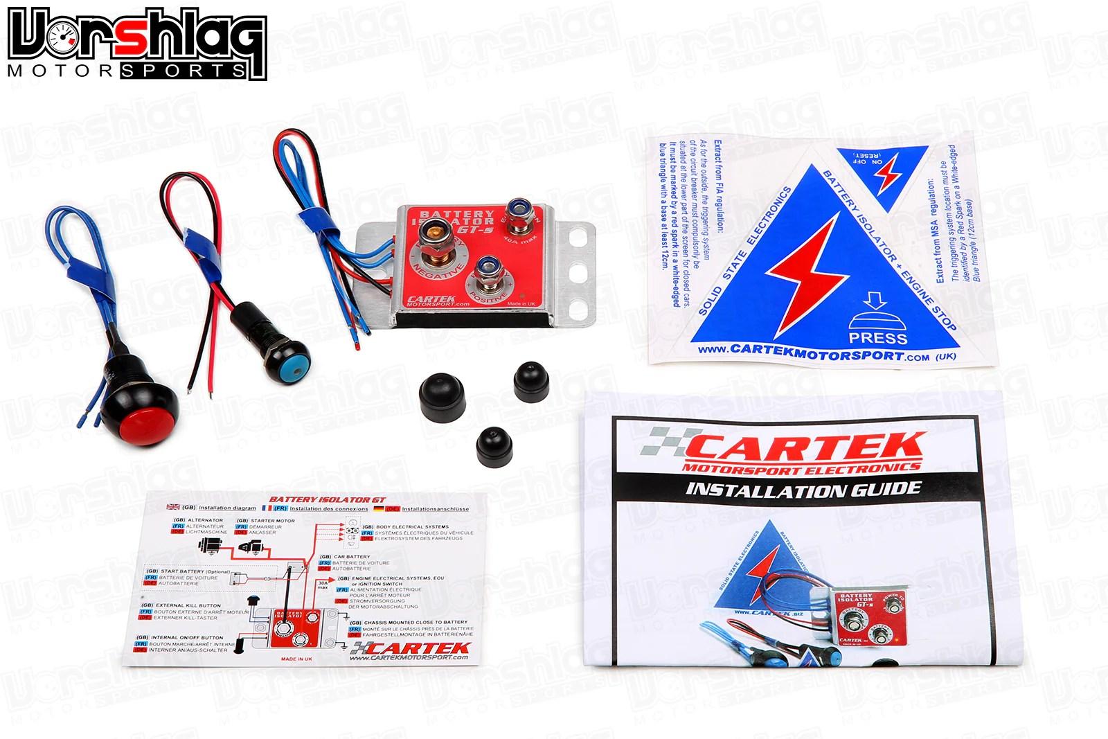 medium resolution of cartek solid state battery isolator gt