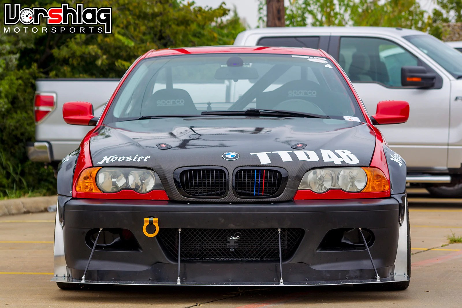 hard motorsport brake duct inlets and fog light delete bmw e46 m3 zhp  [ 1600 x 1066 Pixel ]