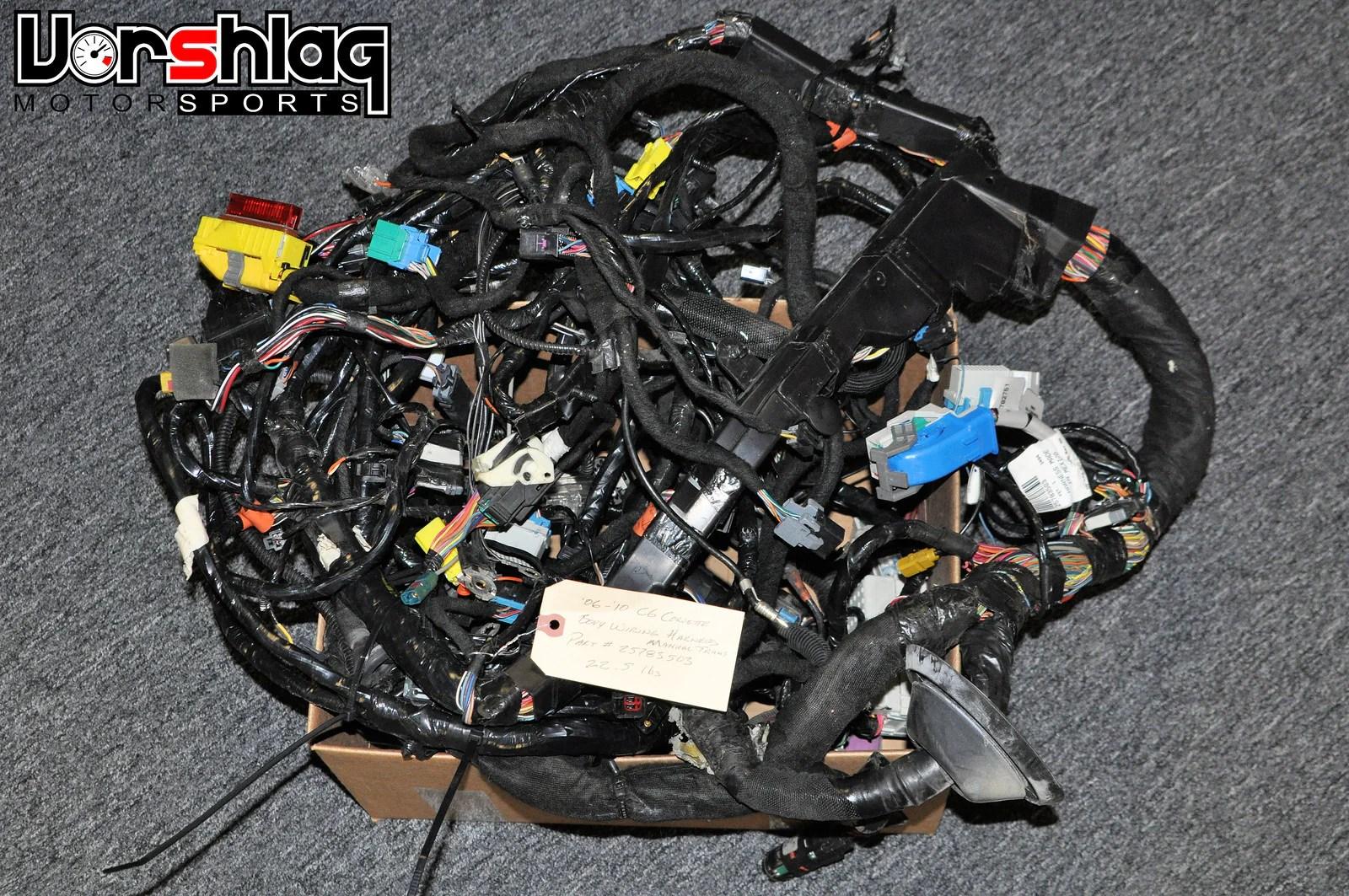 small resolution of c6 corvette body wiring harness manual trans used 25783503 280z wiring harness corvette wiring harness