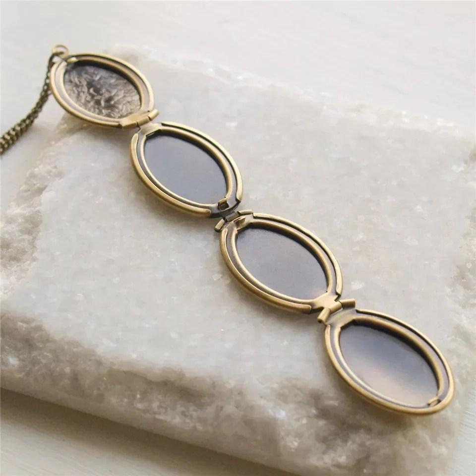 antique bronze locket 16