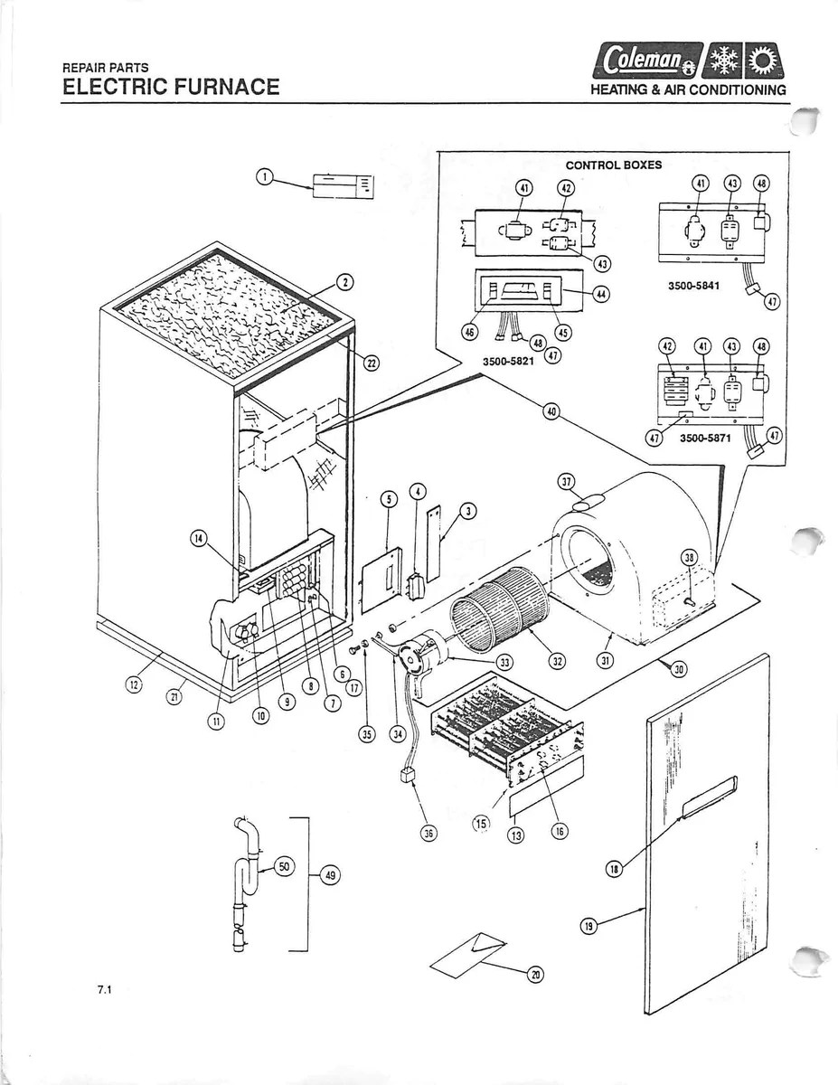 medium resolution of 3500 811 coleman electric furnace parts tagged 220 240v coleman wiring diagrams no cost 3400a811