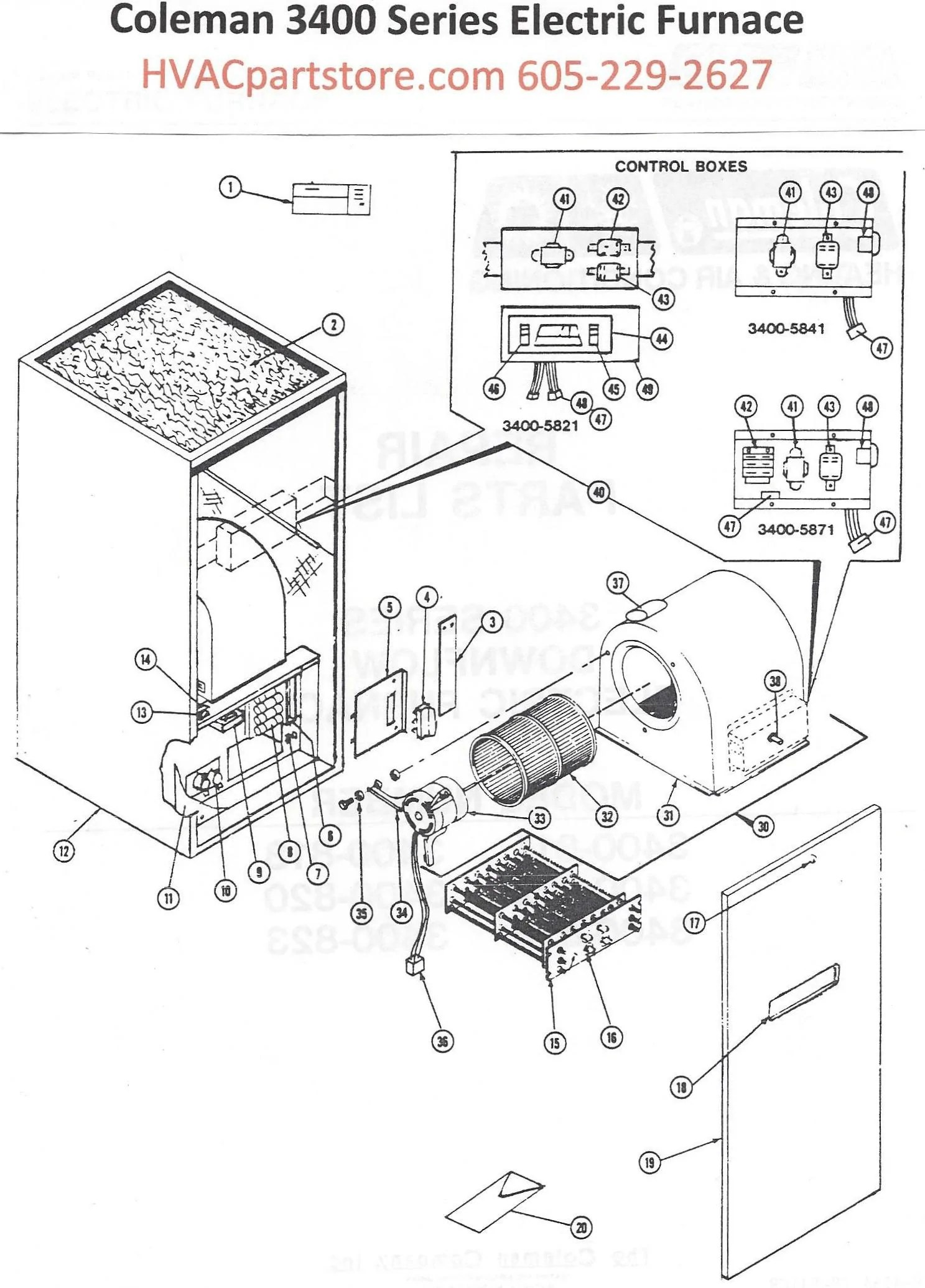 coleman ac heater wiring diagram 3400 wiring diagram third level3400 815 coleman electric furnace parts hvacpartstore [ 1487 x 2071 Pixel ]