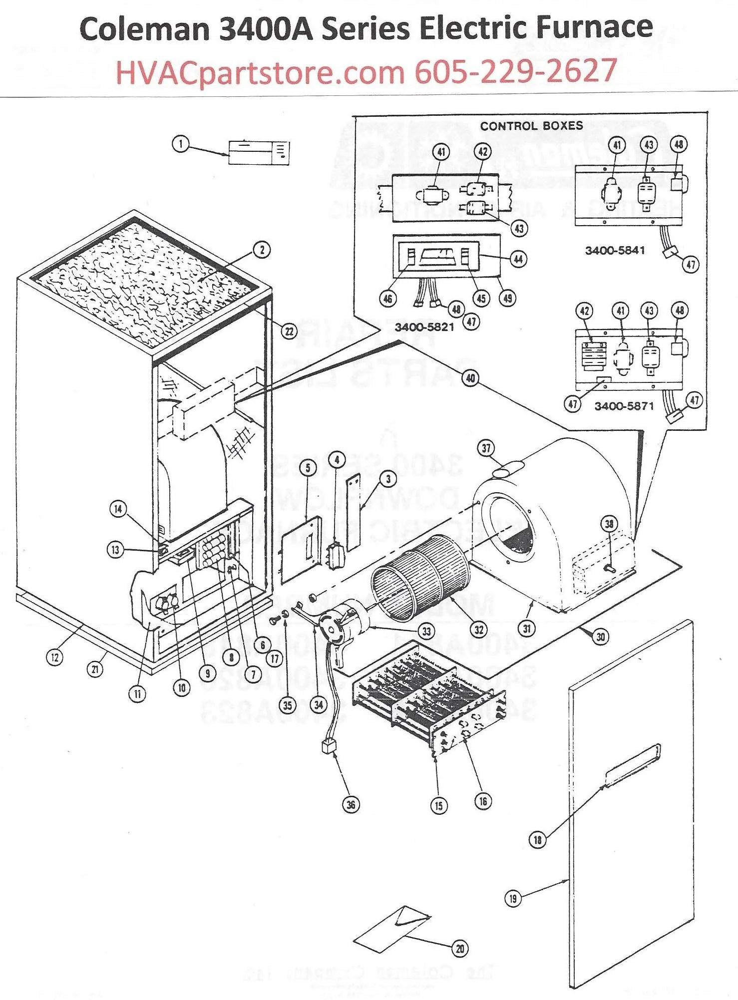 3400a823 coleman electric furnace parts [ 1478 x 2003 Pixel ]
