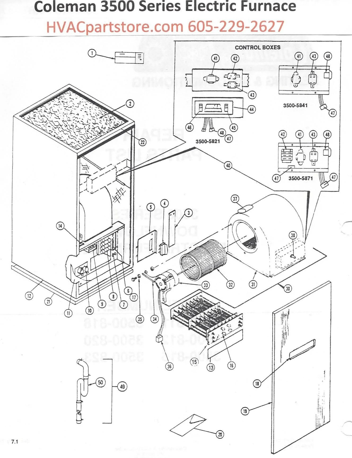 3500 811 coleman electric furnace parts hvacpartstore armstrong air handler wiring diagram electric heat pump wiring [ 1489 x 1940 Pixel ]