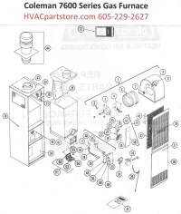 7624-656 Coleman Gas Furnace Parts  HVACpartstore