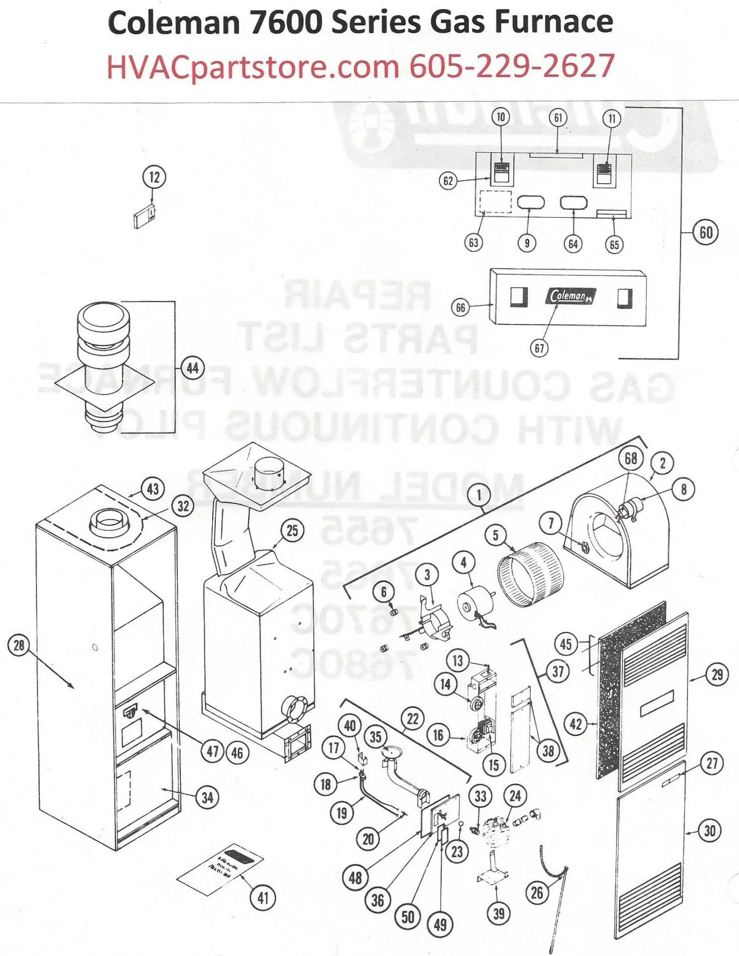 7655 856 coleman gas furnace parts tagged quot manual coleman evcon gas furnace wiring diagram coleman evcon wiring diagram [ 1480 x 1915 Pixel ]