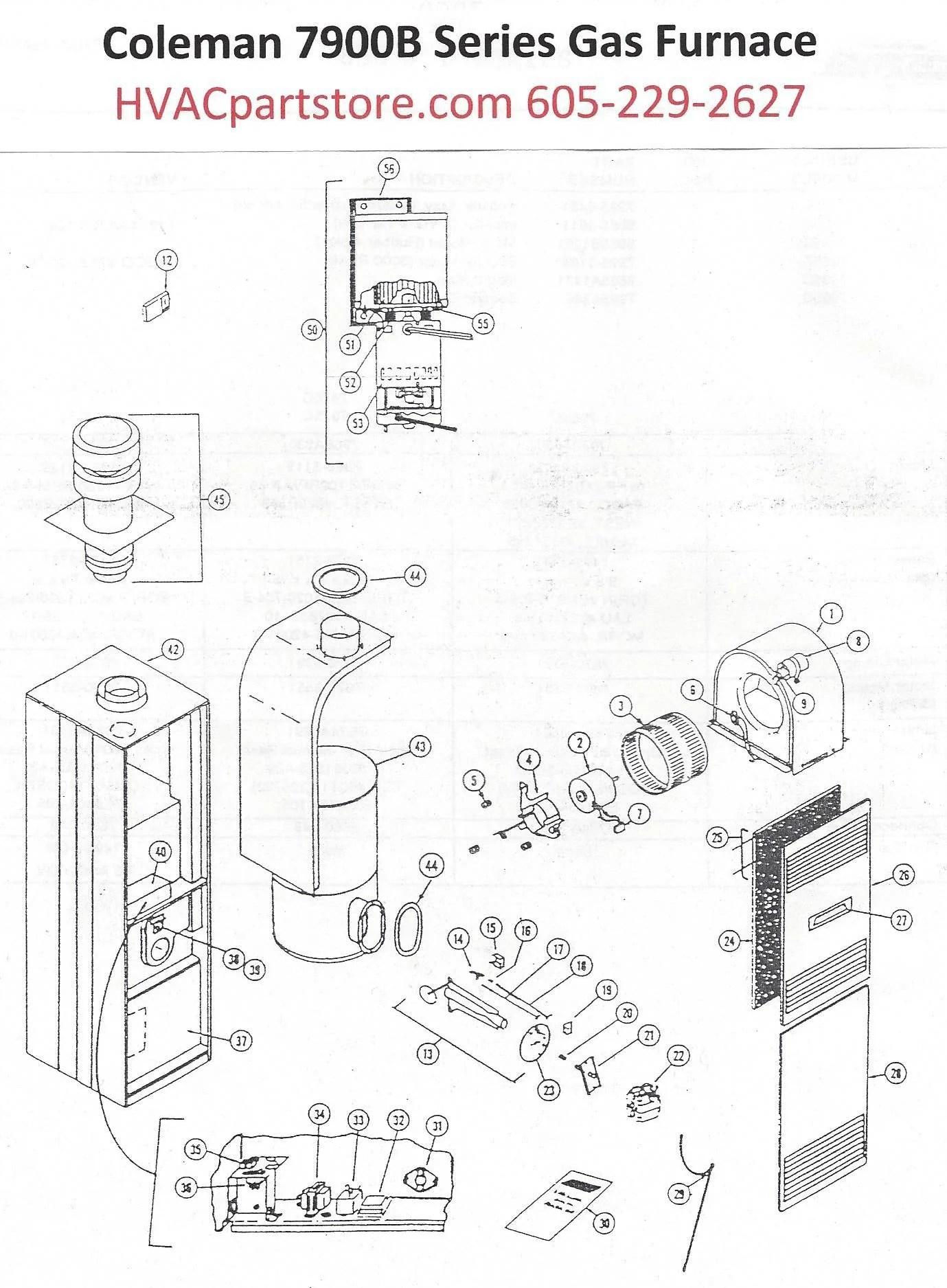 7956B856 Coleman Gas Furnace Parts – HVACpartstore