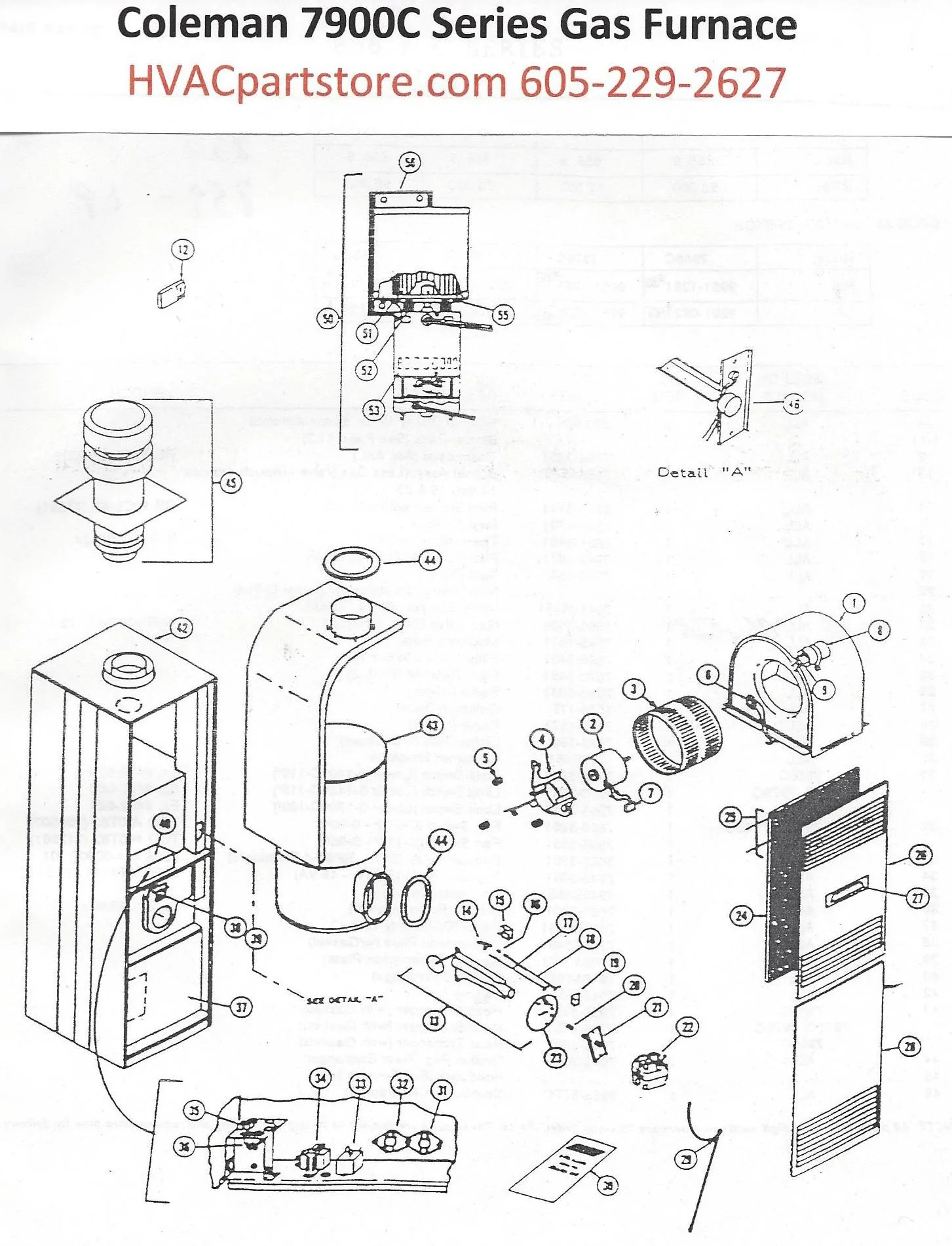 small resolution of 7975c856 coleman gas furnace parts