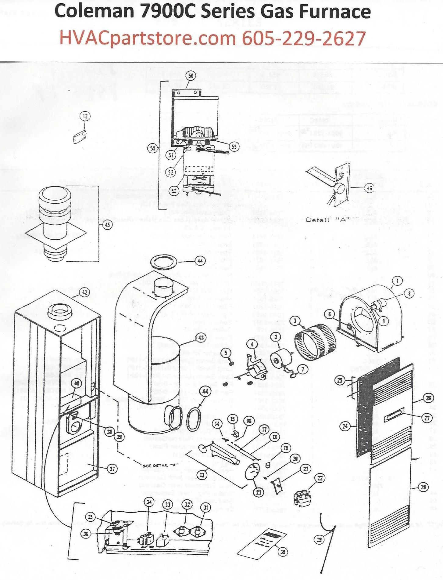 Coleman 7900 Furnace Diagram, Coleman, Get Free Image