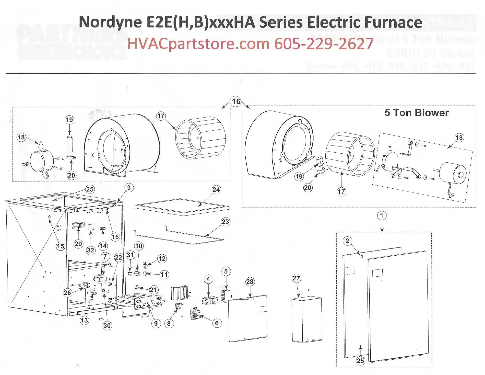 E2EB017HA Nordyne Electric Furnace Parts – HVACpartstore