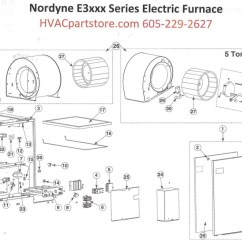 Nordyne Ac Wiring Diagram Air Conditioning E3023 Electric Furnace Parts  Hvacpartstore