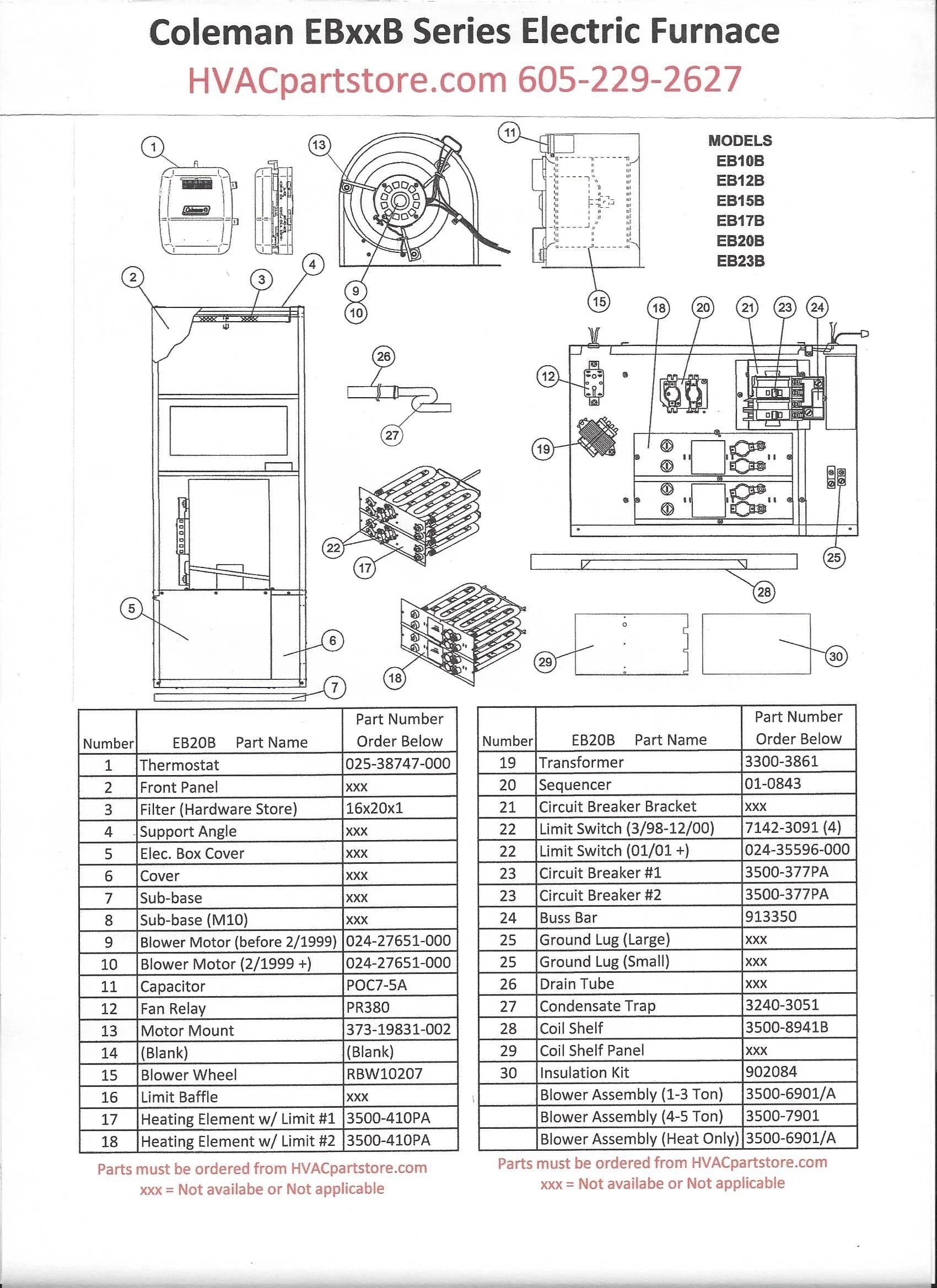 coleman furnace eb20b wiring diagram
